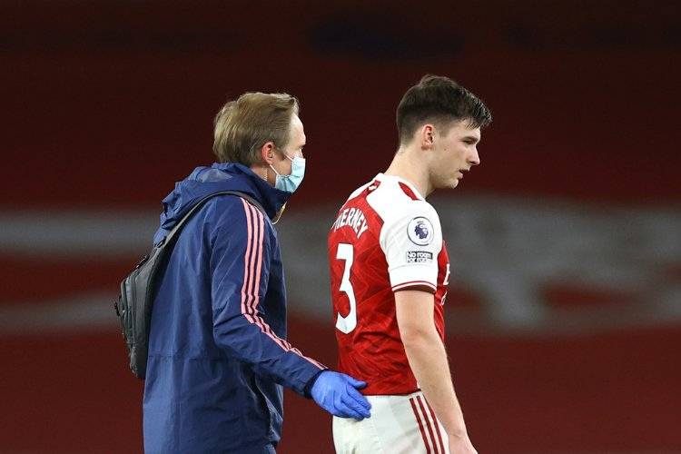 Kieran Tierney injury update as Arsenal prepare for Europa League semi-final